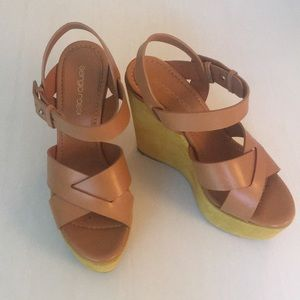 Sergio Rossi wedges. Worn once 💛